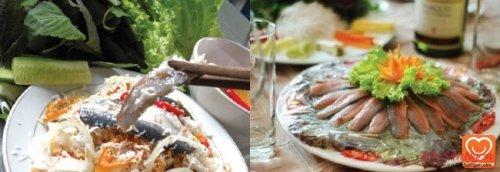 Gỏi cá bỗng Sông Lô