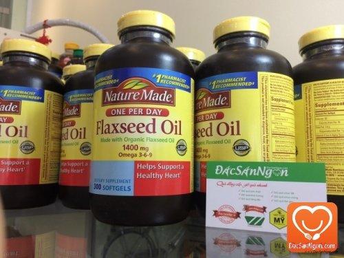 Tinh dầu hạt lanh Nature Made Flaxseed oil 1400 mg Omega 3-6-9