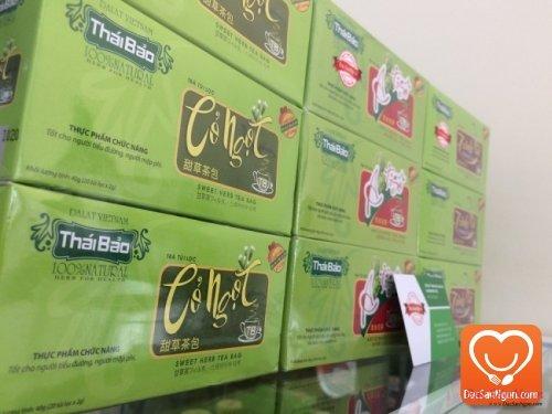 Cung cấp sỉ và lẻ Trà Cỏ Ngọt túi lọc hộp 20 tép Thái Bảo đặc sản Đà Lạt