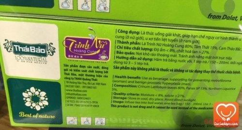 Thông tin sản phẩm Trà Trinh Nữ Hoàng Cung túi lọc hộp 20 tép Thái Bảo