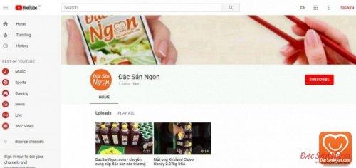 Mua bán đặc sản ngon tại kênh Youtube