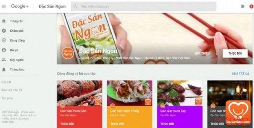 Mua bán đặc sản ngon tại Google +